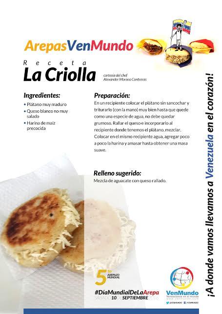 #ArepaVenMundo La Criolla