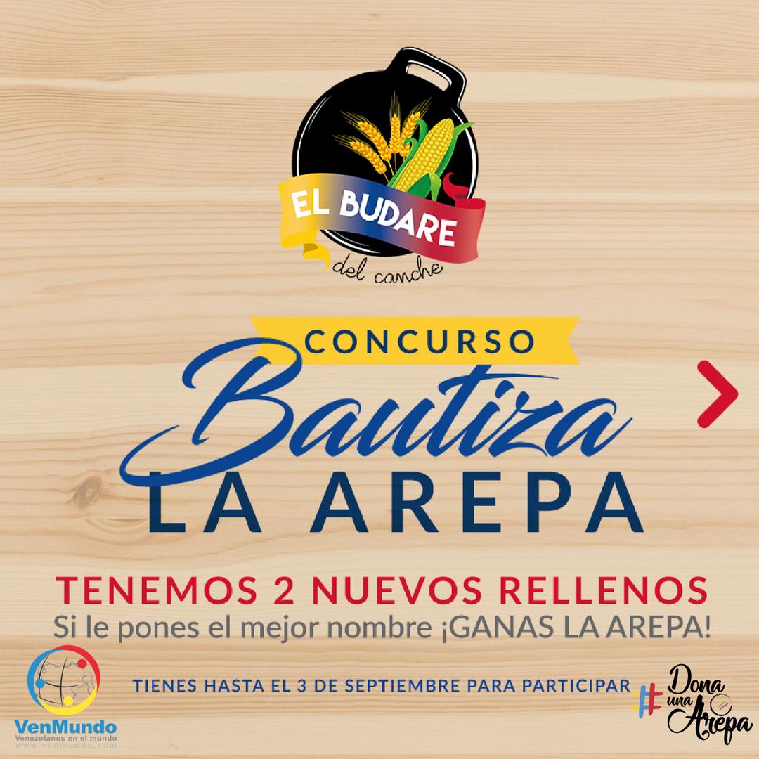 Concurso. Bautiza la arepa en Guatemala